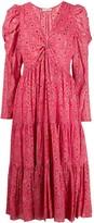 Ulla Johnson Diamond Print Flared Dress