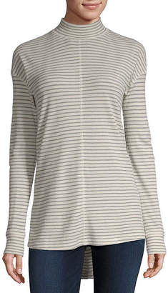 A.N.A Thermal Mock Neck Tunic Top - Tall