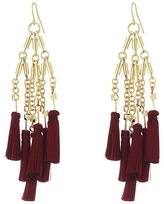 French Connection Statement Tassel Chandelier Earrings