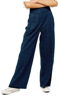 Topshop Paperbag Waist Wide Leg Trousers