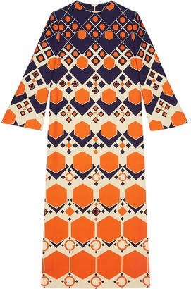 Gucci Geometric-Print Long Dress