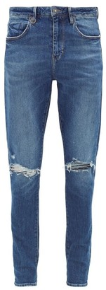 Neuw Rebel Distressed Slim-leg Jeans - Mens - Blue