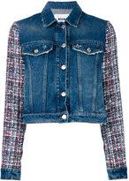 MSGM embroidered sleeves denim jacket