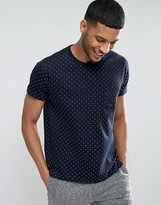 French Connection T-Shirt with Polka Dot Print