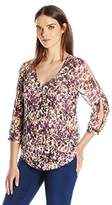 Lucky Brand Women's Floral Printed Top