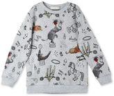 Stella McCartney pebble biz roll up print sweatshirt