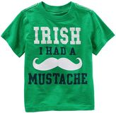 "Carter's Toddler Boy Irish I Had a Mustache"" Graphic Tee"