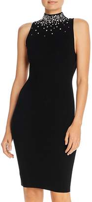 Milly Gem and Faux Pearl Bodycon Tank Dress
