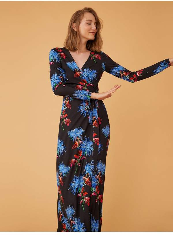 Diane von Furstenberg The New Julian Two Long Wrap Dress