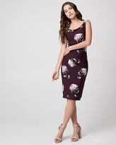 Le Château Floral Print Knit Asymmetrical Dress