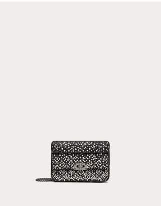 Valentino Garavani Small Crystal Embroidered Rockstud Spike.It Bag