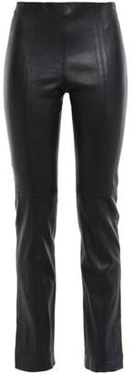 Vince Leather Slim-leg Pants