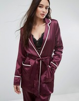 Boohoo Satin Kimono Jacket