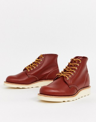 Red Wing Shoes 6-inch Round Toe Leather Boot-Brown