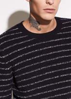 Vince Striped Wool Crewneck Sweater