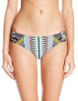 Laundry by Shelli Segal Women's Tribal Goddess Strappy Side Bikini Bottom