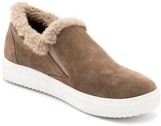Blondo Gia Faux Fur Trim Waterproof Slip-On Sneaker