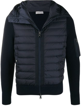 Moncler Padded-Panel Long-Sleeve Jacket