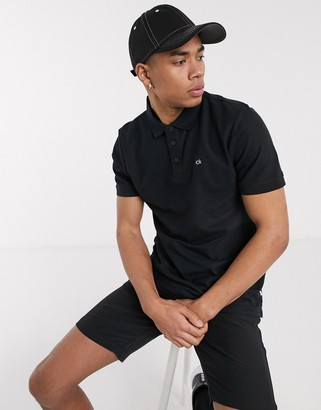 Calvin Klein Golf Midtown radical cotton polo shirt in black