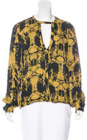 A.L.C. Abstract Print Silk Blouse