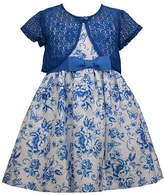 Bonnie Jean Girls 2-pc. Sleeveless Floral A-Line Dress - Toddler, 2t , Blue