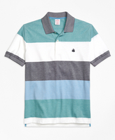 Brooks Brothers Slim Fit Engineered Wide Stripe Polo