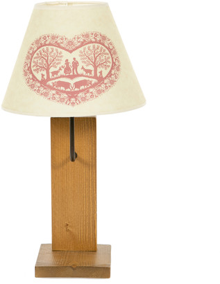 Maison De gaspard - Rustic Wood Lamp With Alpine Heart Shade