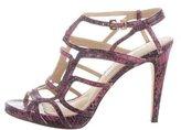 Diane von Furstenberg Embossed Cutout Sandals