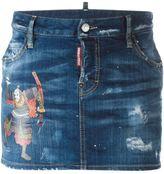 DSQUARED2 samurai detail mini skirt