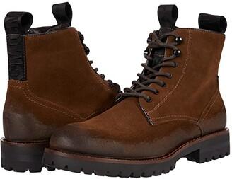 Steve Madden Mackee Logger Boot (Black Suede) Men's Shoes