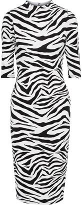 Alice + Olivia Delora Zebra-print Stretch-jersey Dress