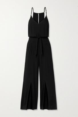 Vix Nora Embellished Voile Jumpsuit - Black