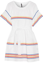 Lisa Marie Fernandez Fiesta Rickrack-trimmed Cotton-poplin Mini Dress - White