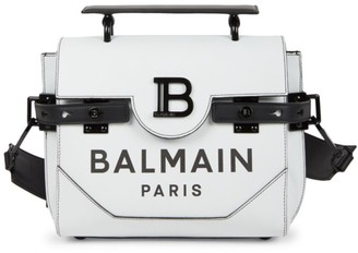 Balmain B-Buzz Leather Satchel