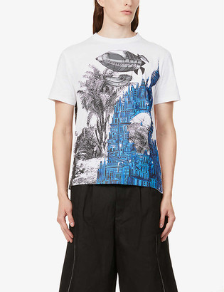 Valentino Lost City graphic-print cotton-jersey T-shirt