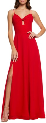 Dress the Population Cambria Twist Bodice Gown