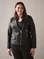 story. Faux-Leather Biker Jacket - In Every