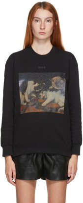 MSGM Black Cat Graphic Sweatshirt
