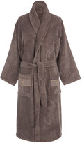 Roberto Cavalli Gold Shawl Bathrobe - Coffee - S/M