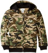 True Religion French Terry Hoody (Toddler/Kid) - Cactus Olive Camo - 7