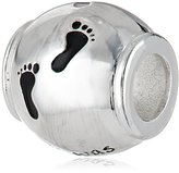 Jewelry Of Faith Girls' Sterling Silver Footsteps Bead Charm