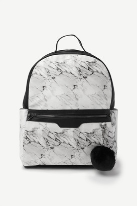 Ardene Marble Faux Leather Backpack