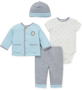 Little Me 4-Pc. Puppy Jacket, Hat, Bodysuit & Pants Set, Baby Boys