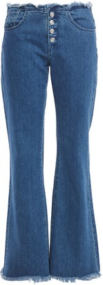7 For All Mankind Marques Almeida Frayed High-rise Bootcut Jeans