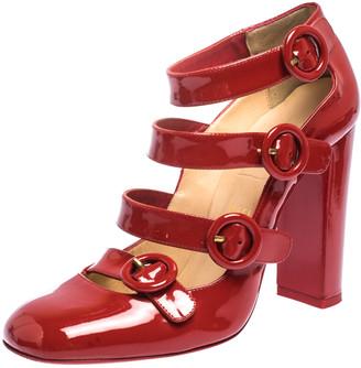Christian Louboutin Red Patent Leather Mistiroir Pumps Size 37