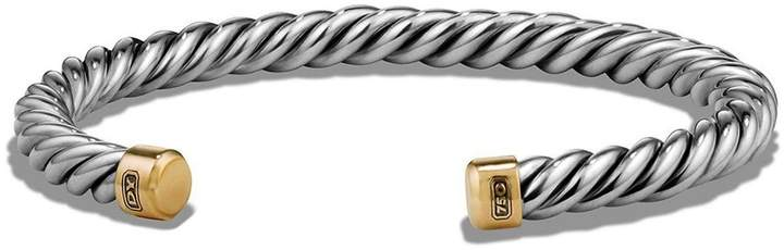 David Yurman 'Cable Classics' Cuff Bracelet with 18K Gold