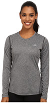 New Balance Heathered Long Sleeve Tee