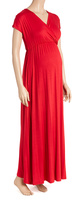 Glam Red Maternity Maxi Dress