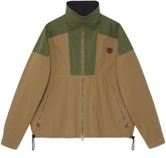 Gucci Cotton nylon zip-up jacket
