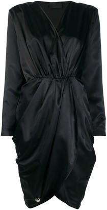 Philipp Plein wrap style mini dress